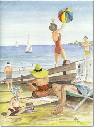 A day at the beach by Alec Wills