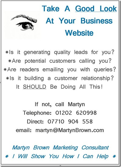 Martyn Brown Marketing Consultant