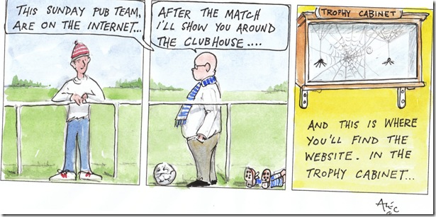 Trophy Cabinet cartoon by Alec Wills