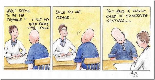 Smile - Published Cartoon by Alec J. Wills, Poole, Dorset UK
