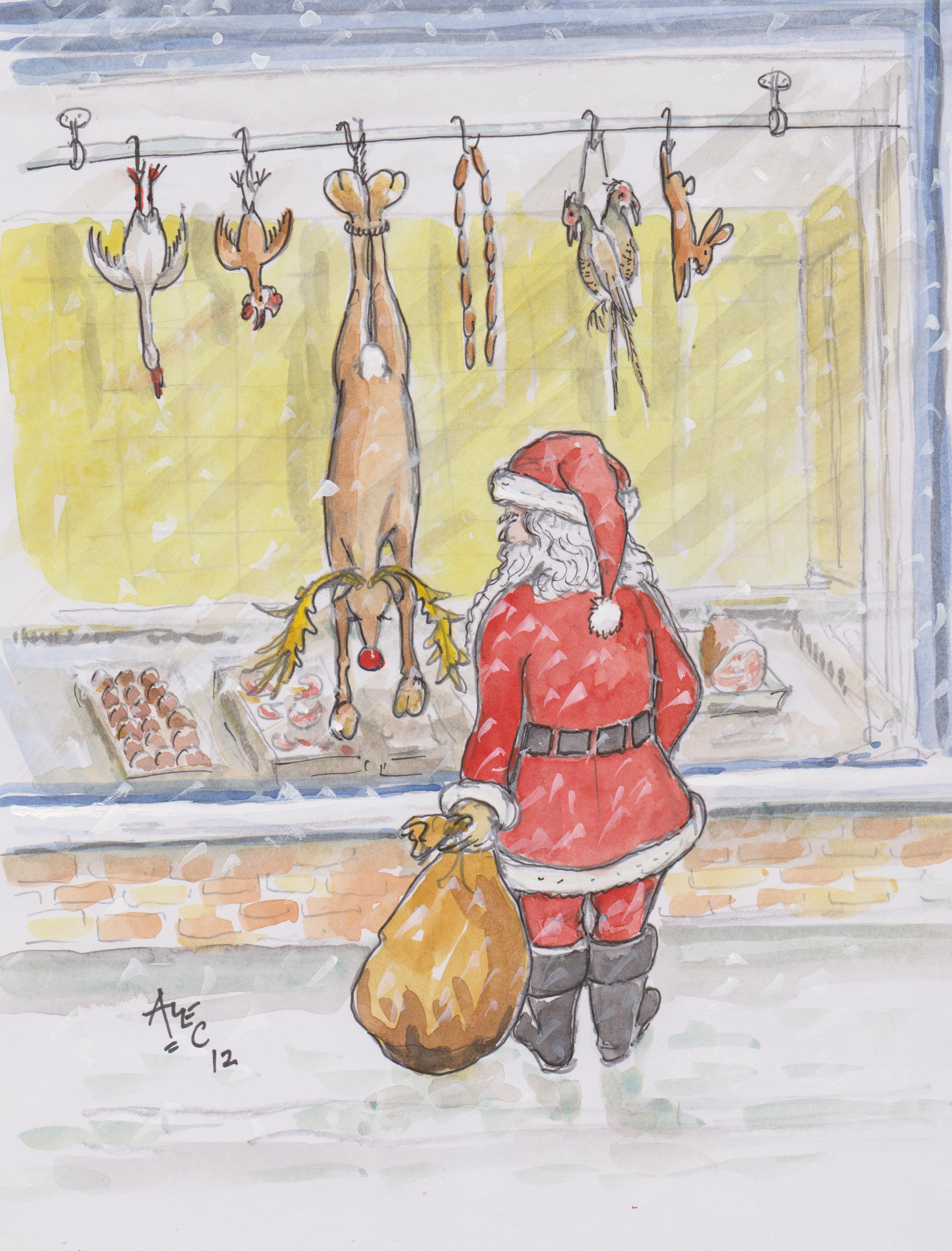 Butcher's Shop Santa